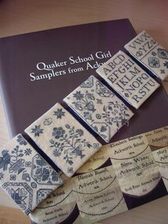 Quaker School Girl Sampler Book