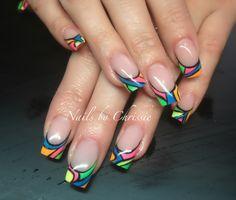 Colourful gels! #gelnails #nails #nailart #nailsbychrissie #nsinails