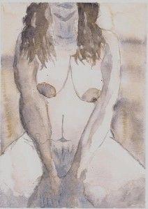 Waiting - torso Watercolor Art, Painting, Art, Torso, Humanoid Sketch