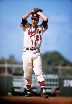Warren Spahn, Atlanta Braves, Starting Pitcher #3.