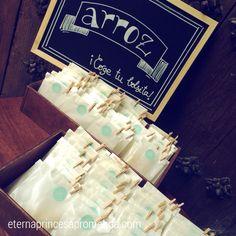 Rinconcitos para las bolsitas de arroz #labodadeclaudiaypepe #bodaseternas