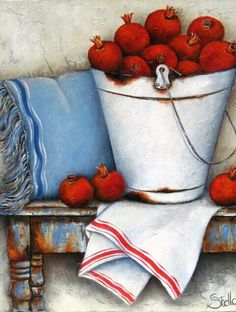 ✿Basket fruits & Vegetables✿ Stella Bruwer