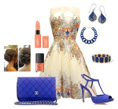 Royal Blue by kburton1971 on Polyvore featuring polyvore fashion style Jessica Simpson Chanel Natures Jewelry Ava & Aiden NYX NARS Cosmetics clothing