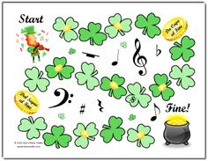 Piano Instruction St Patrick's Day Rhythm Game from Sara's Music Studio - Happy two-weeks from St. In honor of the upcoming holiday, Finegan the Fiddler, Piano Lessons, Music Lessons, St Patrick's Day Music, Piano Games, Music Games, 6 Music, St Patrick's Day Games, Music Lesson Plans, Rhythm Games