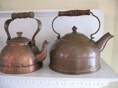 Old tea kettles