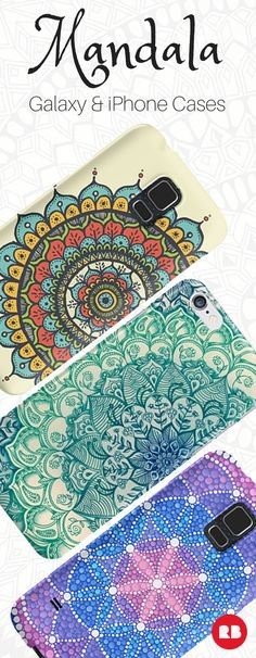 Get in touch with your spiritual side with these beautiful boho phone cases for Android and iPhone. These artist-designed mandala are the perfect way to get centered. Shop now!