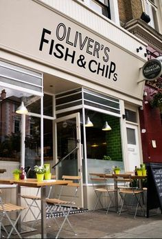 Oliver's Fish and Chips is the best chips shop in my area, honestly, perhaps the best home made chips I have ever had in the UK! It is half way between Chalk farm and Belsize park tube stations, 95 Haverstock Hill London NW3 4RL