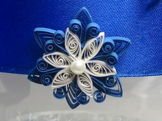 quilling snowflakes | Quilled Snowflake Flower