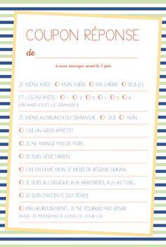 Carton réponse mariage Festivités