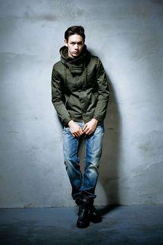 Military Hooded Blouson by Men's Bigi -     This would look better on me. #likenoffensebutitstrue.