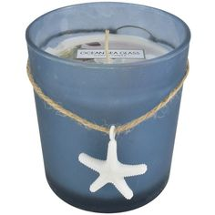 SONOMA Goods for Life™ Ocean Sea Glass (Blue) 10-oz. Jar Candle ($9.99) ❤ liked on Polyvore featuring home, home decor, candles & candleholders, blue, colored candles, wick candles, floral home decor, flower home decor and blue home decor