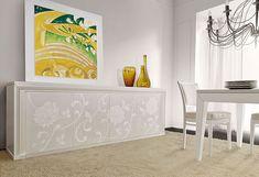 MAISON MATIÉE - COLLEZIONE LA DOLCE VITA - ARREDAMENTO MODERNO IN LEGNO Credenza, Painted Furniture, Design, Home Decor, Decoration Home, Room Decor, Sideboard, Cupboard