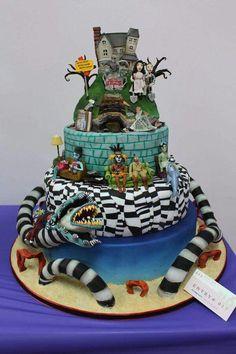 Cake Wrecks - Home - Sundays Sweets: Tim Burton Treats! Pretty Cakes, Cute Cakes, Beautiful Cakes, Amazing Cakes, Crazy Cakes, Fancy Cakes, Pink Cakes, Unique Cakes, Creative Cakes