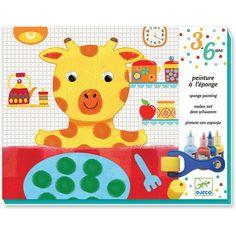 Djeco - schilderen met spons - knutseldoos - doudous