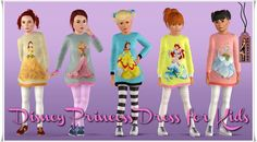 Disney Princess Dress for Kids by Annett85 - Sims 3 Downloads CC Caboodle