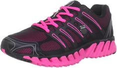 sports shoes 908f0 6d0eb K-Swiss Women s Blade-Max Strong Running Shoe,Black Neon Pink,5.5 M US