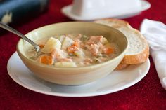 The Cooking Photographer: Lighter Salmon Potato Chowder