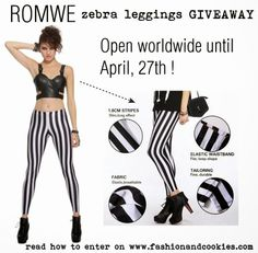 Fashion and Cookies - fashion blog: Romwe zebra leggings Giveaway