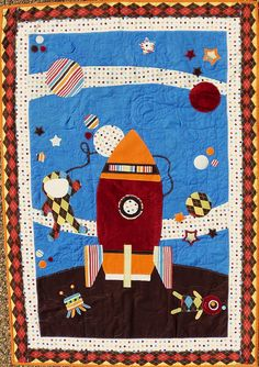 Very cute space boy quilt