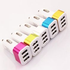 Hot Triple USB Universal Car Charger Adapter USB Socket 3 Port Car-charger 2.1A 1A 1A For iPhone Samsung Hot Sale