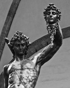 source: bishopsbox Enjoy the beauty of Benvenuto Cellini's masterpiece Perseus with the head of Medusa Piazza della Signoria (centre of Florence). Medusa Art, Medusa Tattoo, Perseus Und Medusa, Medusa Images, Mens Sleeve, Angel Art, Ancient Romans, Archetypes, Old Women