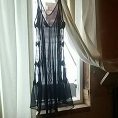 Lingerie by Fredericks Dark blue sexy one piece. Bow ties down the sides. Frederick's of Hollywood Intimates & Sleepwear