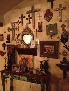 Mexican decor: hearts and crosses