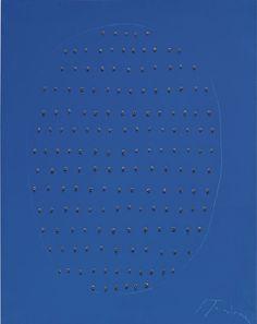 Lucio Fontana (1899 – 1968), Concetto Spaziale (Blu), 1968 | Alain.R.Truong