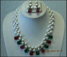 Triple line Ruby and Emerald Pearls Set Order Online https://www.payupaisa.com/store/product/1a74c3b0f720ec1679b04896195707a9