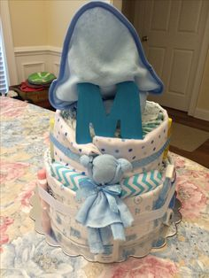 Back side of diaper cake