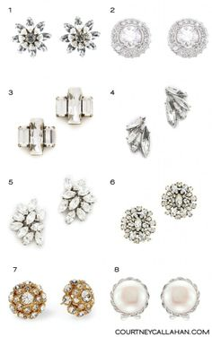 8 stud earrings perfect for brides #wedding