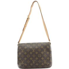 Pre-Owned Louis Vuitton Musette Tango Monogram Coated Canvas Shoulder... ($420) ❤ liked on Polyvore featuring bags, handbags, shoulder bags, brown, louis vuitton, white shoulder bag, louis vuitton shoulder bag, colorful handbags and louis vuitton handbags