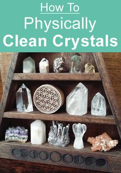 Learn how to physically clean your crystals and keep them dust free as possible. #crystalhealing #springcleaning #homedecor
