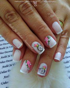 Aprenda passo a passo, como fazer unhas perfeitas e como ter sua agenda lotada o ano todo! Ou chama no WhatsApp Painted Toe Nails, Acrylic Nails, Cute Summer Nails, Fun Nails, Feather Nail Art, The Art Of Nails, Cute Nail Art Designs, Nails Only, Rose Nails