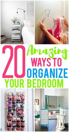 20 Amazing Organization Hacks That Will Transform Your Bedroom Printables To Help You Organize! 20 Amazing Organization Hacks That Will Transform Your BedroomThis Post May Contain Affiliate Links. Organisation Hacks, Organizing Hacks, Organizing Your Home, Bathroom Organization, Closet Organization, Cleaning Hacks, Small Space Organization, Hacks Diy, Organising