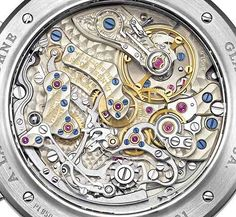 A. Lange & Söhne L951.6 The hand-wound Caliber L951.6 by A. Lange & Söhne powers the brand's Datograph Auf/Ab timepiece and, as you can see from the photo, has an incredibly high level of finishing and craftsmanship. The balance bridge has that traditional Glashütte finish (hand-engraving) and all the movement parts are meticulously finished as well.