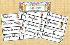 Etiquettes pour afficher le programme du jour