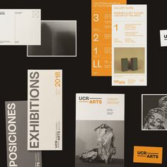 Art direction, graphic design, and rebranding by Forth + Back of the visual identity for the art museum and cultural center, UCR ARTS. Museum Branding, City Branding, Museum Identity, Brochure Layout, Brochure Design, Branding Design, Word Design, Layout Design, Visual Communication Design
