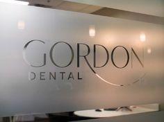 #signage on the window pane at #microveneers Gordon #dental #KansasCity #missouri 64151