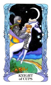 Knight of Cups (Moon Garden deck) There's a buzz about you now. Get out there, follow your heart, and enjoy yourself
