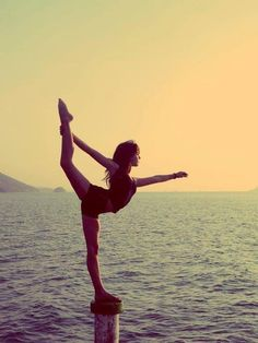 This pose is my New Years resolution! Maybe not on a post in the ocean, but I think I can get close to it by the end of the year!