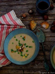 Maronensuppe mit Birnen.