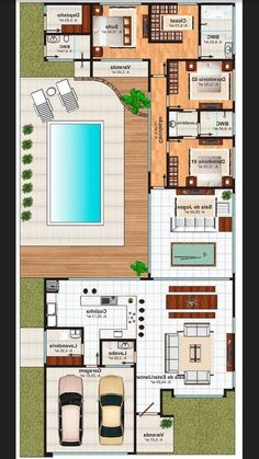 Sims House Plans, House Layout Plans, Dream House Plans, House Layouts, House Floor Plans, Home Building Design, Building A House, Modern Small House Design, House Construction Plan