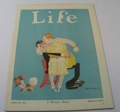 Life Magazines from 1920s Featuring Comical Couple|