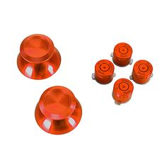 PS4 Red Aluminum Buttons & Analog Sticks  https://www.retrogamingstores.com/gaming-accessories/ps4-repair-part-aluminum-buttons-analog-sticks-red-game-bully  Repair Part - Aluminum Buttons & Analog Sticks