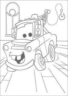 kleurplaat Cars (Pixar) - Takel in de rechtzaal