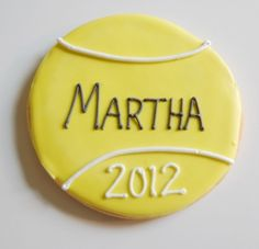 Personalized Tennis Cookies