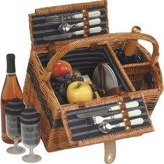 send the newlyweds on some romantic outings with this fantastic picnic basket for two.