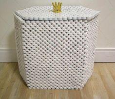 Mulher Virtuosa: Passo a Passo cesto de roupas com tampinhas de garrafa pet