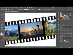How to Create a Film Strip in Adobe Illustrator - YouTube